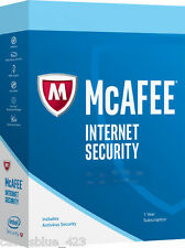 New Intel McAfee internet security 2017, 3PCs - 1Year Activation card/Key