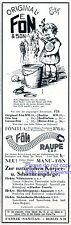 Haartrockner Fön Reklame 1929 Mädchen Puppe Werbung Püppchen Putzeimer Bad +