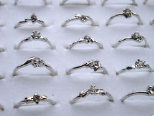 20Pcs/lot Wholesale Jewelry Lot Mixed Style Tibet Silver Vintage Rings Jewelry