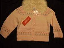NWT Gymboree PRINCESS SNOW DROP pink cardigan sweater faux fur collar ~ girls 4