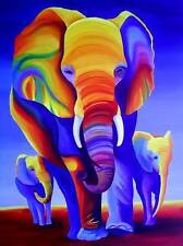 ACEO / ELEPHANTS / Open Edition Print of Original Painting