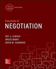 Essentials of Negotiation by David M. Saunders, Bruce Barry Roy J Lewicki 6th ed