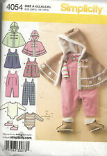 BABY'S Poncho, Romper, Jumper, 1 Pc! Simplicity Pattern #4054 - Infant XXS - L