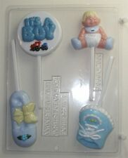 BABY BOY ASSORTMENT CHOCOLATE LOLLIPOP CANDY MOLD MOLDS SHOWER PARTY FAVORS CC