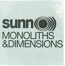 Sunn 0))) Monoliths & Dimensions BRAND NEW SEALED US CD Southern Lord