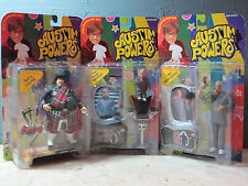 Austin Powers Action Figures Lot Fat Bastard Dr. Evil Mini Me  1999 McFarlane