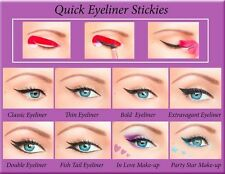 ORIGINAL 80pcs Quick Eyeliner Stickies Stencils Perfect Eye Makeup Tool Cat UK1