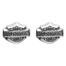 Harley-Davidson® Women's 3-D Bar & Shield Post Sterling Silver Earrings HDE0085