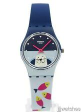 New Swatch Originals FISH ME BABY Blue Silicone Women Watch 25mm LN152 $60