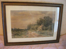 William C. Bauer (1862-1904) LISTED ARTIST's watercolor painting.