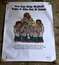 Rare Original Help McGruff Take a Bite Out of Crime Vintage Anti Drug Poster