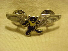 GRATEFUL DEAD BLUE DANCING BEAR WINGS PIN