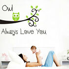 Wall Stickers Owl love you Tree Branch Art Removable Vinyl kids Nursery Decor