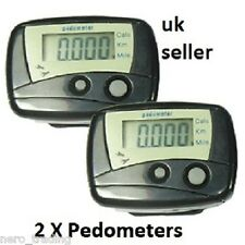2x  Digital Pedometer Calorie Counter Step Walking Run Weight loss slimming diet