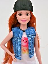 BARBIE-Petite-RED HEAD-Fashionistas-BAMBOLA-Moda - Vestito