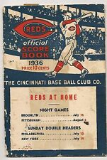 1936 Cincinnati Reds-Cubs Program Reds Top Cubs!!