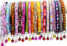 Wholesale Lot 24pcs Pet Supplies Nylon Colorful Bell Small Pets Safety Collar