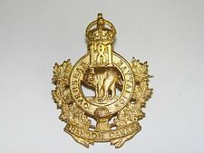 Canada WW1 CEF Cap Badge OFFICER's 181st Battalion, Gilt on copper REESOR