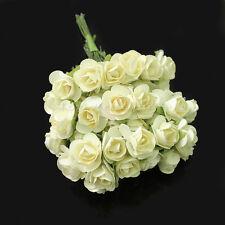 Bouquet de 144 Fleurs Artificielle rose rosette Soie Décor Mariage Maison Soirée