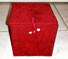 Small Red Velvet Gift Decorative Box Trinket Box (New With Defects)