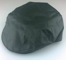 Waterproof Waxed Flat Cap Green M.L.XL 100% Cotton, checked lined