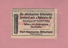 Bitterfeld, Werbung 1935, Kurt Naumann Steinzeugwaren