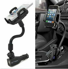 Dual USB Port Car Cigarette Lighter Charger Mount Holder For Mobile Phone GPS E1