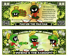 MARVIN LE MARTIEN - Billet MILLION DOLLAR US! Collection Dessin Animé Looney Tun