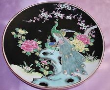 Nippon Ceramic Plate with Bird of Paradise and Flowers Multi