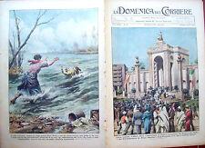 276) 1934 FIERA DI TRIPOLI E INCIDENTE IN FIUME A PONTE TICINO DOMENICA DEL CORR
