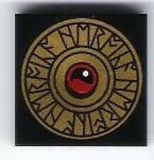 LEGO - Tile 2 x 2 with Gold Heroica Shield with Runes Pattern - Black