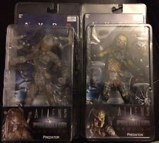 Neca AVPR Cloaked Stealth Wolf Predator And Unmasked Predator Sealed