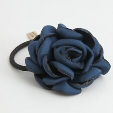 Handmade Simple Rose Flower Elastic Ponytail Holder