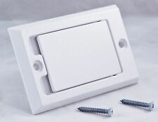Central Vacuum Wall Inlet - White square door Hayden 1700-01 Vac Hose Outlet