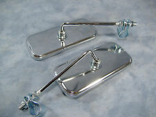PAIR CHROME REAR VIEW BICYCLE MIRRORS BEACH CRUISER LOWRIDER CRUISER BIKE