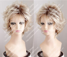 2016 new wig Golden Blonde Short curly hair Fashion women wig everyday life wig