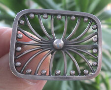 Danish Serling Silver Modernist Brooch  No. 152  -  Hans Hansen Denmark