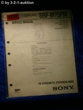 Sony Service Manual SRF M75PM PLL Synthesized Radio (#4935)