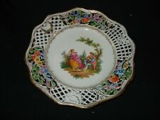 "early dresden 8 5/8"" richard klemm reticulated plate"