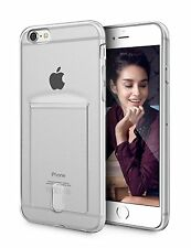 iPhone 6 Plus Crystal Clear Case Protective Soft TPU With Card Holder