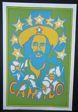 CAMILO Cuban Silkscreen Tribute Poster / Pop Art Gem by Raul Martinez / CUBA