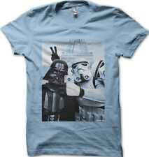 StormTrooper Star Wars Darth Vader JEDI Selfie Paris YODA SKY BLUE t-shirt 9773