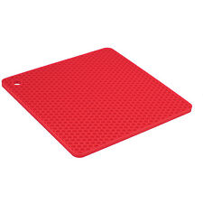 Fashion  Kitchen Table Pad Tools Silicone Cup Coaster Table Mat  --Red