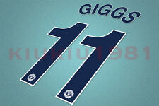 Manchester United CL Giggs #11 2008-2009 Awaykit Nameset Printing