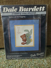 1985 Burdett BABIES ARE FOR HUGGING Country Cross Stitch SEALED  Kit #CK169