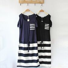 ❤Open Off Shoulder Stripe Dress Top❤Japan Japanese Korean Fashion blouse shirt S