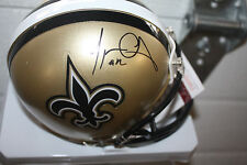 NEW ORLEANS SAINTS MARQUES COLSTON #12 SIGNED MINI HELMET JSA!
