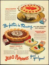 1950 Vintage ad for Jell-O Puddings/Old recipes (032213)