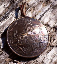France Coin Pendant Vintage Necklace Jewelry Unique Charm Finding Bead Foreign