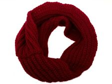Men Women Winter Warm Infinity Circle Cable Knit Cowl Neck Long Scarf Shawl